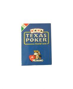 Покер карти Texas Hold'em Poker Modiano, Син - Подаръци Дейзи