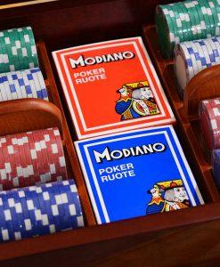 Махагонова кутия Sapelle с 200 покер чипа