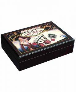 Кутия LAS VEGAS с покер карти Модиано