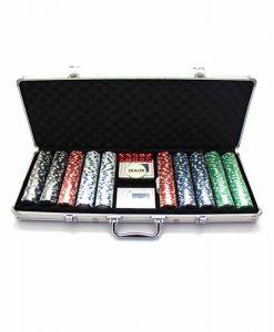 Алуминиево куфарче с 500 покер чипа