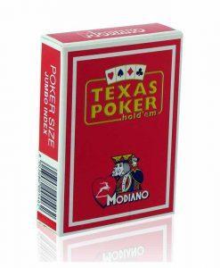 Покер карти Texas Poker 100% Plastic с черен и син гръб