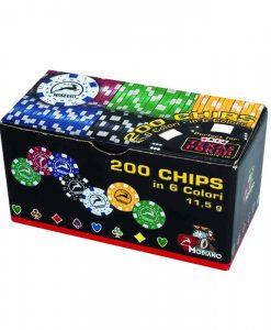 Комплект 200 покер чипа Модиано