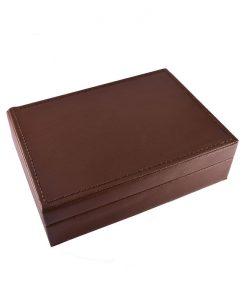 Кожена кутия с 2 тестета карти за канаста и бридж