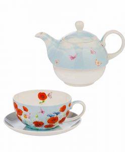 Чайник и чаша с макове