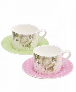 Комплект две чаши Роза Перла Класик