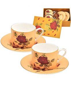 Комплект две чаши Роза Крем класик