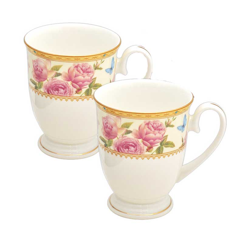 Комплект 2 чаши Royal MUG Роза Дантела