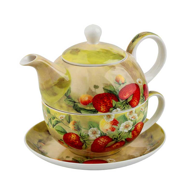 Чайник с чаша Ягода