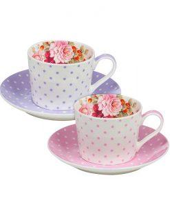 Сет чаши с чинийки Перла