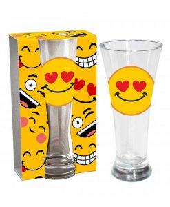 Стъклена чаша Емотикон Любов
