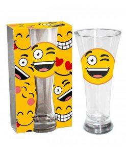 Стъклена чаша Емотикон Намигване