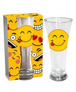 Стъклена чаша Емотикон Задоволство