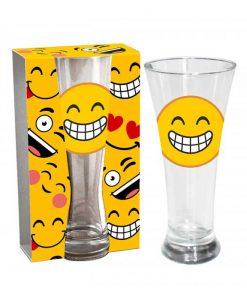 Стъклена чаша Емотикон Смях