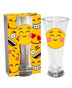 Стъклена чаша Емотикон Изчервяване