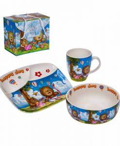 Детски комплект за хранене Усмивка