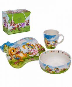 Детски комплект за хранене Зайче