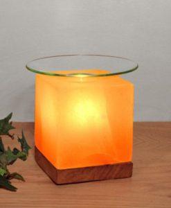 Арома-лампа Куб от Хималайска сол