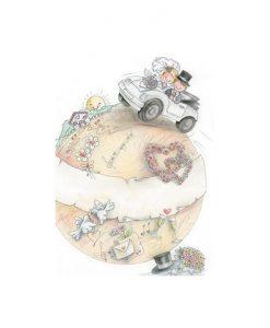 Картичка в плик Меден месец
