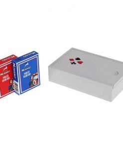 Покер карти Modiano в дървена кутия