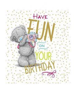 Картичка за Рожден ден BEAR WITH CAMERA