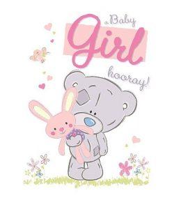 Картичка за новородено момиченце