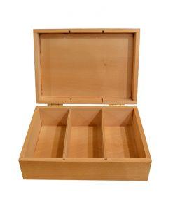 Дървена кутия за чай