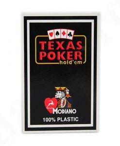 Покер карти Texas Poker черни