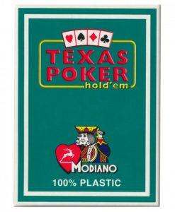 покер карти texas зелен гръб