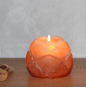 свещник хималайска сол, лотос