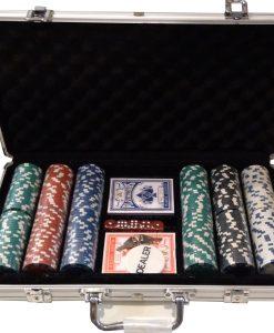 Алуминиево куфарче с 300 покер чипа - Подаръци Дейзи
