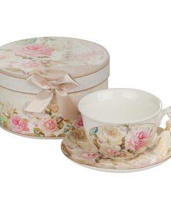 Роза айфел чаша и чинийка
