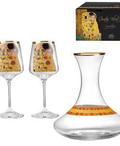 Целувката сет за вино и декантер