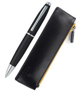 Комплект химикалка и калъф Cross Calais Matt Black