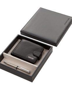 Комплект химикал и мъжки портфейл SILVER FLAME