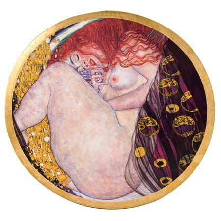 Кръгла чиния Даная-Густав Климт