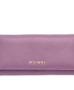Дамско портмоне цвят Лавандула Шагрен ROSSI