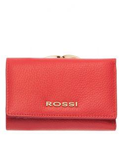Малко дамско портмоне цвят розово Шагрен ROSSI