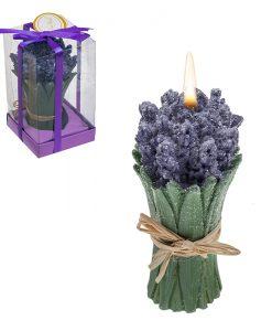Свещ букет лавандула лилав