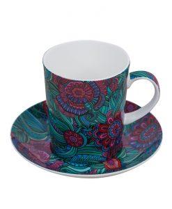 Абстрактна чаша с чинийка