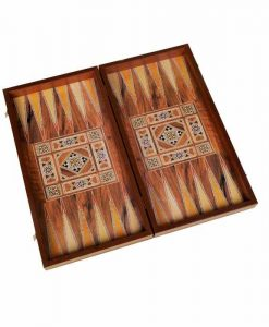 Дървена табла и шах с ориенталски мотиви
