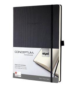 Бележник Sigel CONCEPTUM®, A4, на редове, твърда корица, черен