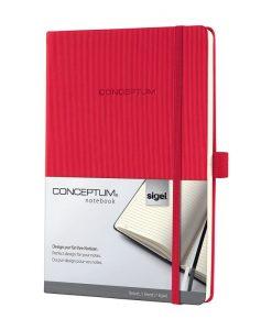 Бележник Sigel CONCEPTUM®, A5, на редове, твърда корица, червен
