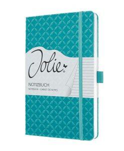 Бележник Sigel Jolie®, A5, на редове, твърда корица, Aqua Green