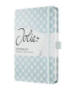 Бележник Sigel Jolie®, A5, на редове, твърда корица, Pastel Blue