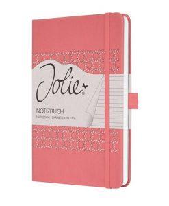 Бележник Sigel Jolie®, A5, на редове, твърда корица, Salmon Pink