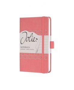 Бележник Sigel Jolie®, A6, на редове, твърда корица, Salmon Pink