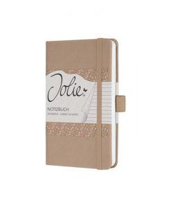 Бележник Sigel Jolie®, A6, на редове, твърда корица, Desert Brown
