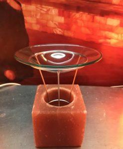 Арома свещник куб от Хималайска сол- 800г