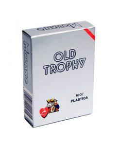 Карти за покер OLD TROPHY 100% пластик – червен гръб