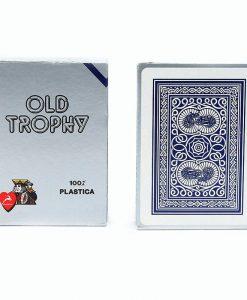 Карти за покер OLD TROPHY 100% пластик – син гръб